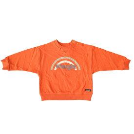 ベビーザらス限定 Wrangler ラングラー 虹ロゴトレーナー(オレンジ×90cm)
