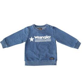 ベビーザらス限定 Wrangler ラングラー インディゴ染め トレーナー(ブルー×100cm)