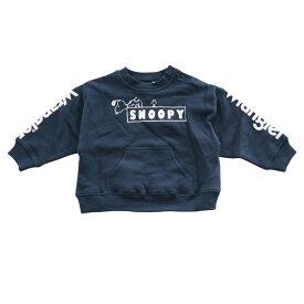 ベビーザらス限定 SNOOPY×Wrangler スヌーピー×ラングラー 裏起毛 ポケット付トレーナー(ネイビー×90cm)