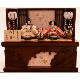 【雛人形】ベビーザらス限定 収納親王飾り「雪輪刺繍雪輪抜き形」【送料無料】