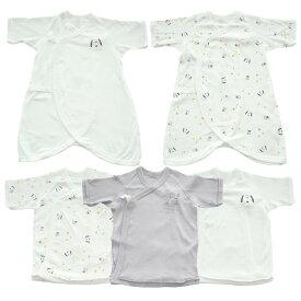 ベビーザらス限定 PEANUTS 新生児肌着5点セット スヌーピー&ウッドストック(ホワイト×50-60cm)