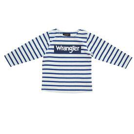 ベビーザらス限定 Wrangler ラングラー 天竺 ボーダー 長袖Tシャツ (ブルー×100cm)