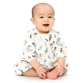 ベビーザらス限定 MOOMIN 新生児兼用ドレス ムーミン谷仲間柄(ホワイト×50-70cm)