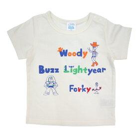 ベビーザらス限定 ディズニー トイ・ストーリー4 ロゴ半袖Tシャツ (ホワイト×100cm)
