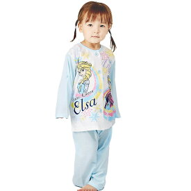 ディズニー 長袖ロールアップパジャマ アナと雪の女王 (サックス×110cm)