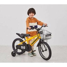トイザらスオリジナル 【子ども用自転車】 ハマーキッズ14インチ-TZ 折畳み補助輪 イエロー