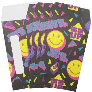 【ポチ袋】【メール便可】ポチ袋 5枚セット SMILE 90's【おもちゃ グッズ おもしろ おしゃれ お祝い 日本製 おもしろ雑貨 お年玉袋 ぽち袋 ミニ封筒 オシャレ お小遣い セット キャラクター ギ