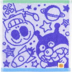 【アンパンマン】【メール便可】アンパンマン ジャガードミニタオル バイキンマン&ホラーマン【おもちゃ グッズ 幼児 タオル ハンカチ ハンドタオル それいけ!アンパンマン キャラクター お出かけ プレゼント 日本製 コットン バンダイ かわいい ブルー 青色】