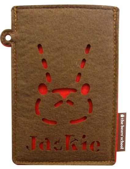 B2.1 【メール便可】くまのがっこう  フェルト スマホケース (赤)  【ジャッキー クマ モバイル 携帯 くまの学校 iphone アンドロイド 可愛い 雑貨 プレゼント スマートフォン】70s