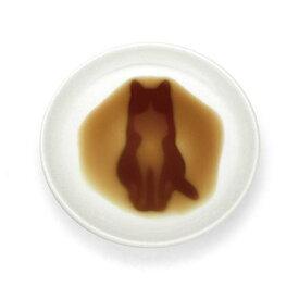 【食器】【メール便可】醤油を注ぐと!?ネコ醤油皿 すわる(座る)【おもちゃ グッズ 雑貨 お土産 プレゼント 贈り物 ギフト 誕生日 父の日 母の日 敬老の日 食器 陶器 オシャレ かわいい しょう油皿 小皿 キッチン雑貨 猫 ねこ シルエット 白 ネコグッズ】