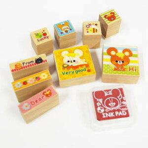 【スタンプ】【セット】木製 スタンプ ハチミツ くまさん