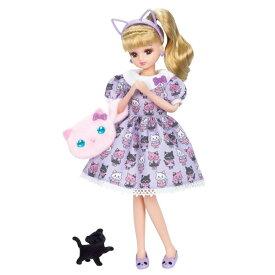【リカちゃん】【お人形】リカちゃん人形 LD-09 ネコちゃんコーデ【おもちゃ グッズ 女の子 リかちゃん人形 りかちゃん 小物 ファッション 洋服 アクセサリー メイク 靴 プレゼント ギフト 誕生日 クリスマス ドレス 猫 ネコ キャット バッグ セット カチューシャ】