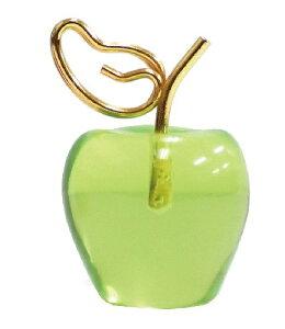 【カードスタンド】【フルーツ】丸いフォルムがかわいい♪ フルーツカードスタンド リンゴ グリーン【おもちゃ グッズ 雑貨 プレゼント ギフト 贈り物 誕生日 父の日 母の日 文房具 メッセ
