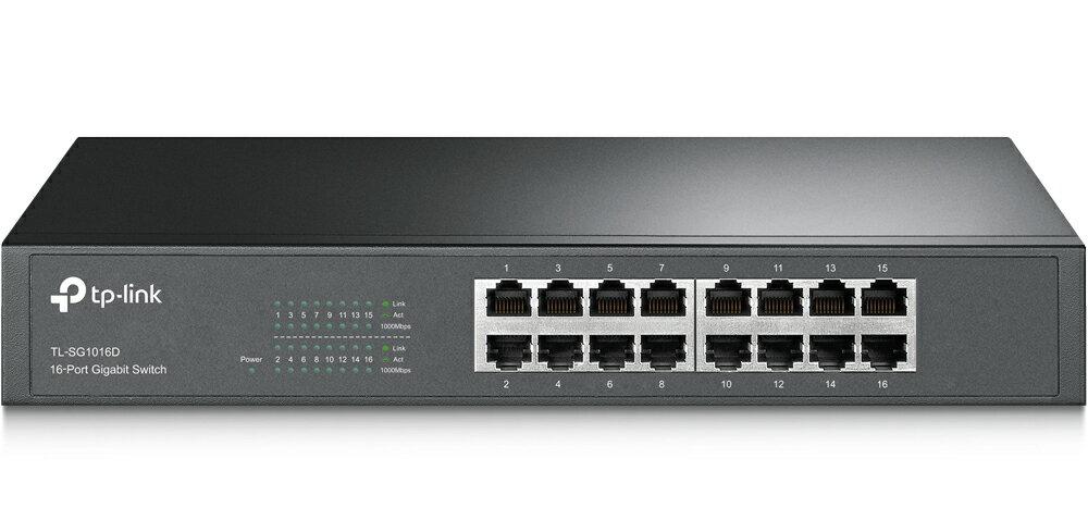 TP-Link Giga対応10/100/1000Mbps 16ポートスイッチングハブ金属筺体 TL-SG1016D「ライフタイム保証」