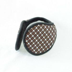 TPOS イヤーマフ シンプル コンパクトなイヤウォーマー チェック柄 6色 耳あて 耳カバー イヤーウォーマー みみあて 耳当て 裏起毛 コンパクト 軽量 通勤 通学 スポーツ ウォーキング ランニ