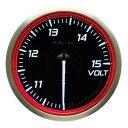 ■Defi Racer Gauge N2 レッド 【DF17103】電圧計 Φ60 10〜15V
