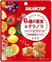 バランスアップ 6種の果実&グラノラ ひとくちビスケット 6袋 アウトレット