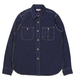 """JELADO [""""Railroader Shirts"""" BASIC COLLECTION JP41123 Indigo Stripe size.XS,S,M,L,XL]"""