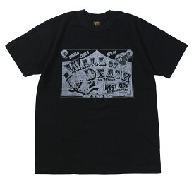 WESTRIDE [-S/S TEE : WALL OF DEATH- BLK size.34,36,38,40,42,44]