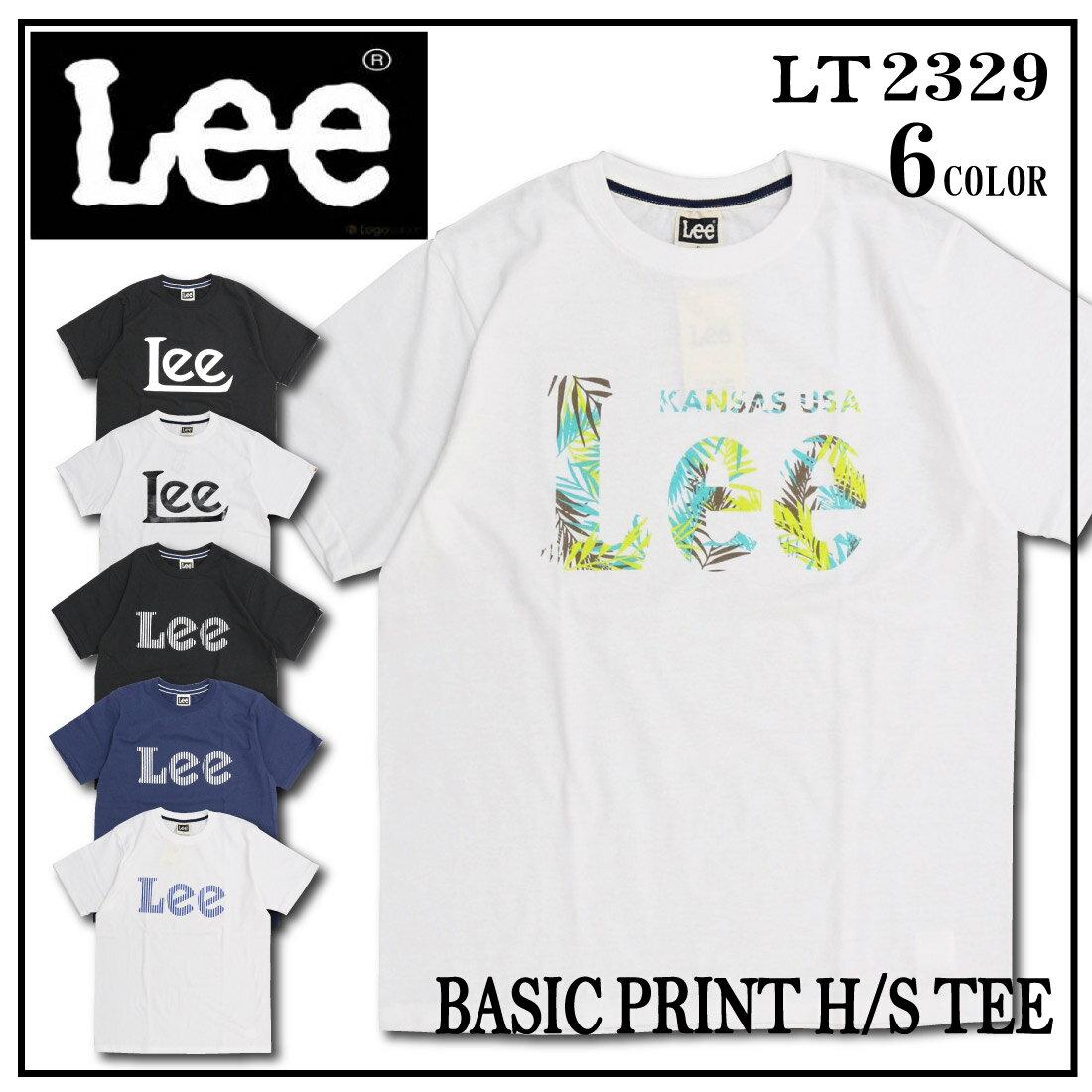 LEE リー Tシャツ 半袖 LT2329 半T ロゴ プリント 柄 クルーネック メンズ S/M/L トップス
