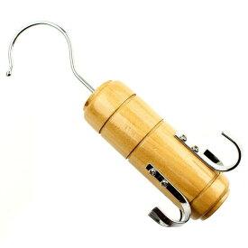 ネクタイハンガー 木製 ベルトハンガー 4本 仕様 たっぷり収納 ネクタイ ベルト スカーフ Anberotta H7 (ブラウン)