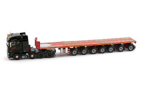 Black Series - 7-axle Ballasttrailer with Volvo FH04 Globetrotter トレーラー /建設機械模型 工事車両 IMC 1/50 ミニカー