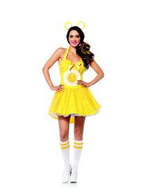 ケアベア ファンシャイン 2点セット 米国オフィシャルコスチューム コスプレ衣装 (二次会、結婚式、仮装、パーティー、宴会、ハロウィン) 女性 大人用
