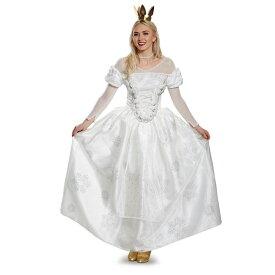 『アリス・イン・ワンダーランド』白の女王のコスチューム3点セット(大人用) ハロウィンコスチューム コスプレ (二次会、結婚式、仮装、パーティー、宴会、舞台、演劇、ハロウィン)  女性 大人用