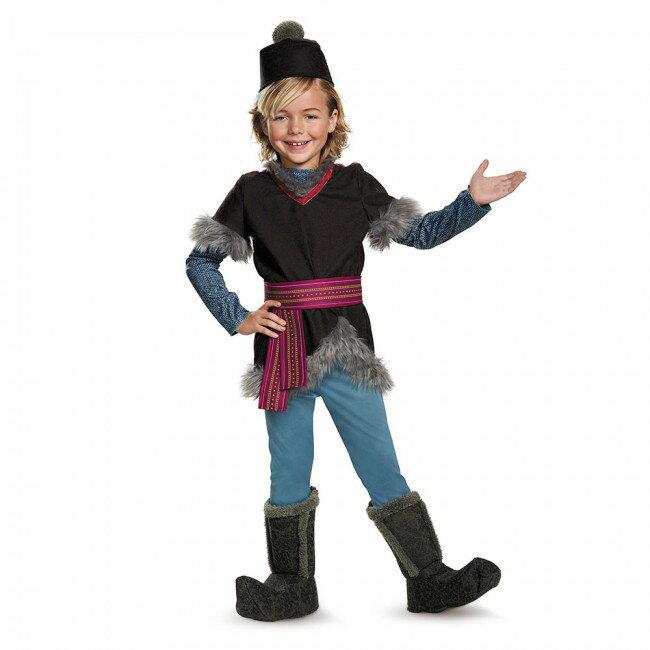 『アナと雪の女王』クリストフのコスチューム4点セット(子供用) ハロウィンコスチューム コスプレ (仮装、パーティー、舞台、演劇、ハロウィン)キッズ 男の子 子供用