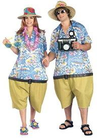 カップルズファン ユニセックス トロピカルツーリストコスチューム ワンサイズ メンズ 2点セット お笑い オモシロコスプレ衣装 (二次会、結婚式、仮装、パーティー、宴会、ハロウィン)大人男性用