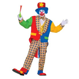 クラウン ザ タウン アダルトコスチューム 5点セット お笑い オモシロコスプレ衣装 (二次会、結婚式、仮装、パーティー、宴会、ハロウィン)大人男性用