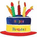 誕生日ケーキ 帽子 ハット 高さ25cm ハッピーバースデーHappyBirthday コスプレ小物 パーティー 大人用 コスプレ衣…