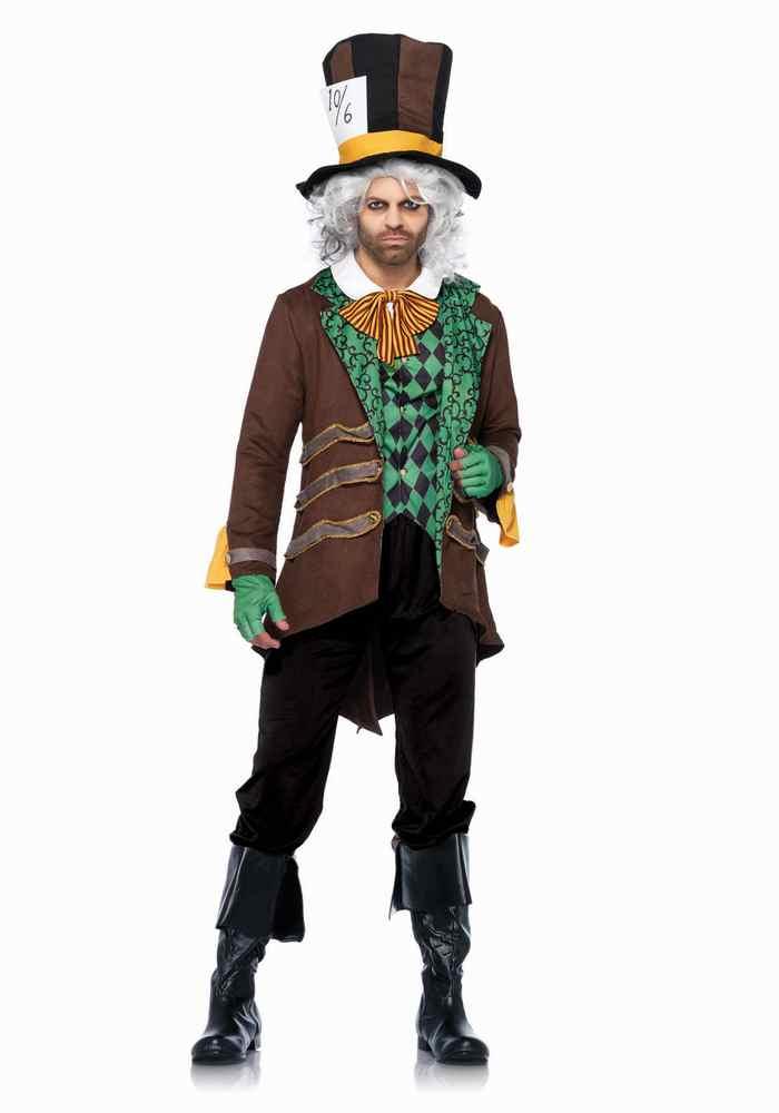 クラシックマッドハッター ジョニーデップ 大人男性  5点セット コスチューム コスプレ衣装 LegAvenueレッグアベニュー (二次会、結婚式、仮装、パーティー、宴会、ハロウィン)