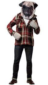 パグ アダルト アニマルキット 2点セット お笑い オモシロコスプレ衣装 (二次会、結婚式、仮装、パーティー、宴会、ハロウィン)大人用