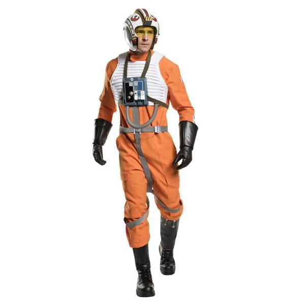 『スター・ウォーズ』Xウイング戦士のコスチューム大人用5点セット コスプレ衣装 (二次会、結婚式、仮装、パーティー、宴会、ハロウィン)大人男性用