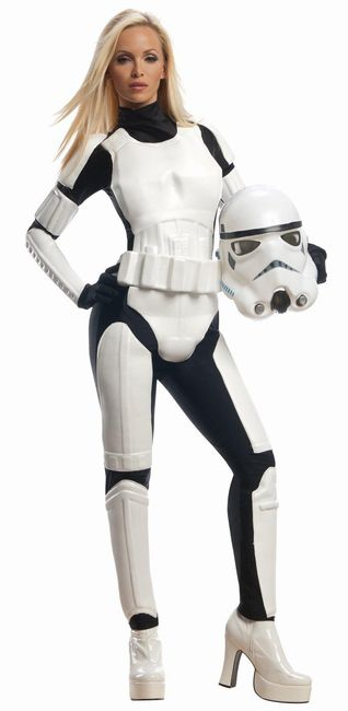 『スター・ウォーズ』ストーム・トルーパーのコスチューム大人用2点セット イベント 仮装コスチューム コスプレ・ハロウィン・女性大人用