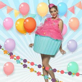 甘い?カップケーキはいかが? /お笑い系コスチューム コスプレ衣装 (二次会、結婚式、おもしろ仮装、パーティー、舞台、演劇、ハロウィン)女性 大人用