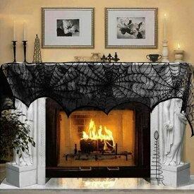 ハロウィン テーブルクロス ブラックレース 蜘蛛の巣 クモ 飾り付け デコレーション おしゃれ パーティーグッズ