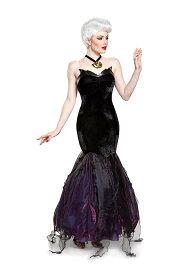 リトル・マーメイド アースラ プレステージ レディースコスチューム 3点セット 女性用 コスプレ衣装 (二次会、仮装、パーティー、ハロウィン)大人女性用