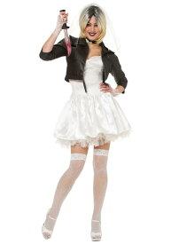 ブライド オブ チャッキー ティファニー レディースコスチューム 5点セット ハロウィンコスチューム  女性用 コスプレ衣装 (二次会、仮装、パーティー、ハロウィン)大人女性用