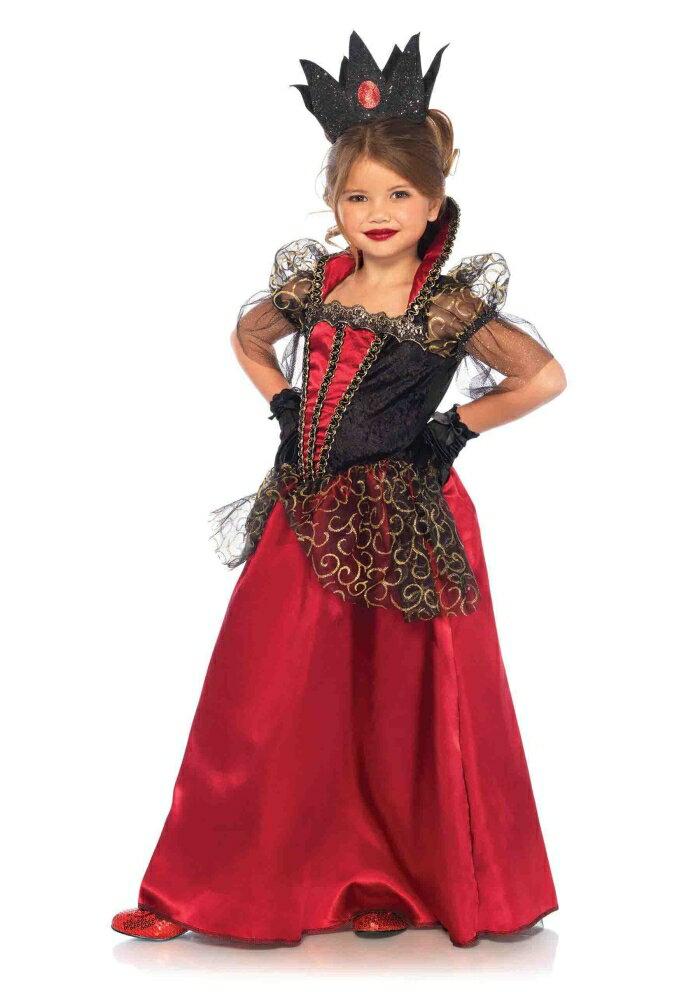 デラックスレッドクイーン アリス 赤の女王 2ピースセット 女の子 キッズコスチューム コスプレ衣装 (結婚式、仮装、パーティー、発表会、ハロウィン)