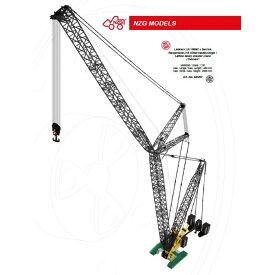 【予約】2019年発売予定Liebherr LR1600-2 + Derrick Raupenkran lattice boom Thomen クローラークレーン/建設機械模型 工事車両 NZG 1/50 ミニチュア