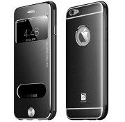 iPhone66Sアップルスマホレザースリムケーススリーブケース6カラー開閉式強化プレート保護高級感【メール便送料無料】