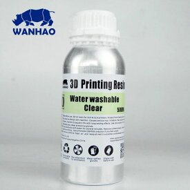 3Dプリンター用 水洗いレジン Wanhao Anycubic Photon Water washable 500ml ホワイト クリア グレー