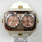 【中古】POLICE ポリス クオーツ アナログ 腕時計 13076J ホワイト×ピンク 白×桃色 中古品 05r3080