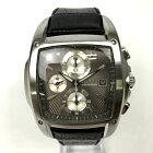 【中古】WIRED ワイアード 手動巻き 腕時計 革ベルト メンズ ブラック×シルバー 黒×銀 中古品 05r3083