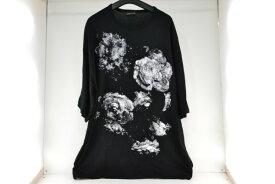 【中古】LAD MUSICIAN(ラッドミュージシャン)INKJET FLOWER BIG TEE インクジェット フラワー ビッグ Tシャツ 黒×白 ブラック×ホワイト 02r6390 中古品【牛久店】