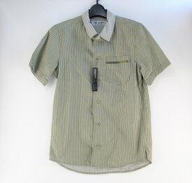 【中古】MR.OLIVE(ミスターオリーブ)半袖ストライプシャツ グリーン 04r0328
