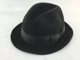 【中古】KNOX ノックス × CA4LA カシラ ハット 中折れハット ブラック ウール 04r0562
