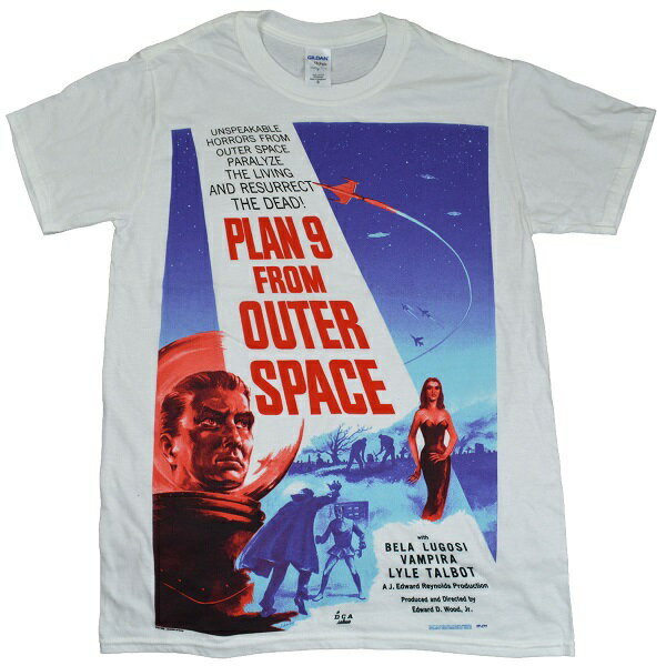 PLAN9 FROM OUTER SPACE プランナインフロムアウタースペース Poster Tシャツ
